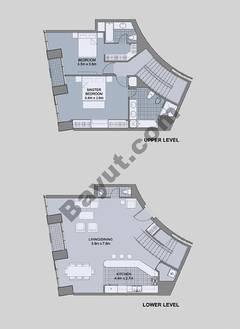 Floors (49-60) Type 3 Unit-7 3 Bedroom