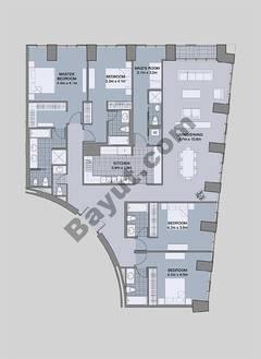 Floors (61-66) Type 4 Unit-1 4 Bedroom
