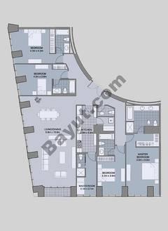 Floors (61-66) Type 4 Unit-3 4 Bedroom