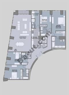 Floors (61-66) Type 4 Unit-4 4 Bedroom