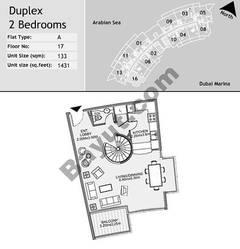 17th Floor 2 Bedroom Type A16