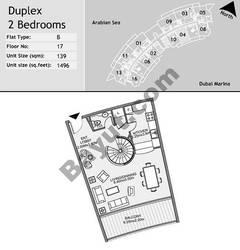 17th Floor 2 Bedroom Type B4