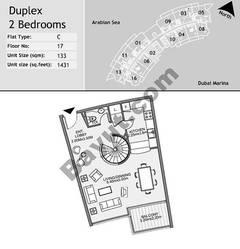 17th Floor 2 Bedroom Type C2