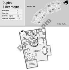 18th Floor 2 Bedroom Type A8