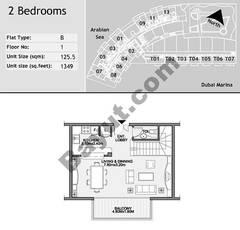 1st Floor 2 Bedroom Type B3