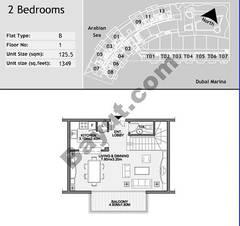 1st Floor 2 Bedroom Type B4