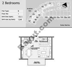 1st Floor 2 Bedroom Type B5