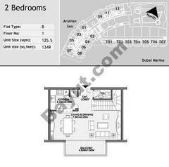1st Floor 2 Bedroom Type B6