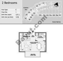 1st Floor 2 Bedroom Type C7