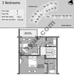 2nd Floor 2 Bedroom Type B2