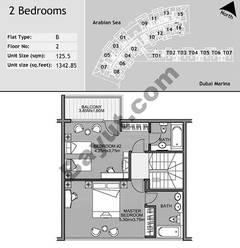 2nd Floor 2 Bedroom Type B6