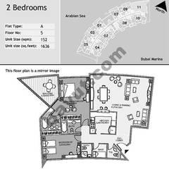 5th Floor 2 Bedroom Type A11