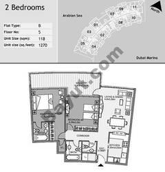 5th Floor 2 Bedroom Type B3