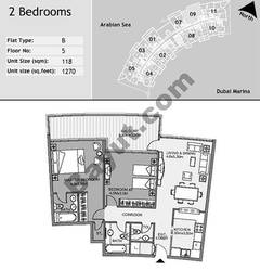 5th Floor 2 Bedroom Type B9