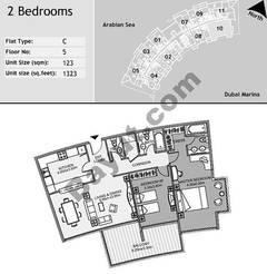 5th Floor 2 Bedroom Type C10