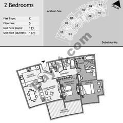 5th Floor 2 Bedroom Type C4