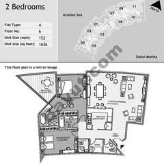 6th Floor 2 Bedroom Type A11