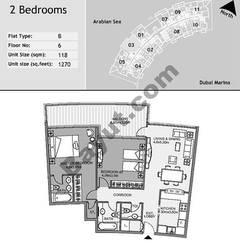 6th Floor 2 Bedroom Type B3