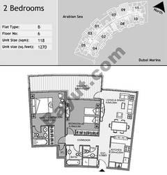 6th Floor 2 Bedroom Type B9