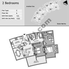 6th Floor 2 Bedroom Type C10