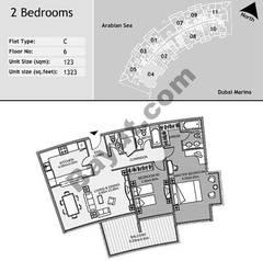 6th Floor 2 Bedroom Type C4
