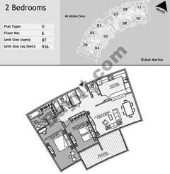 6th Floor 2 Bedroom Type D2