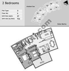 6th Floor 2 Bedroom Type D8