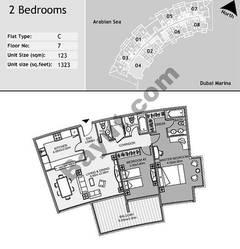 7th Floor 2 Bedroom Type C4
