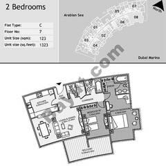 7th Floor 2 Bedroom Type C8