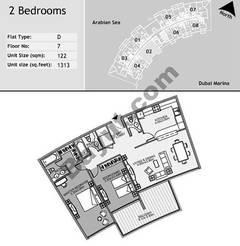 7th Floor 2 Bedroom Type D2