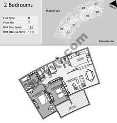 8th Floor 2 Bedroom Type D6