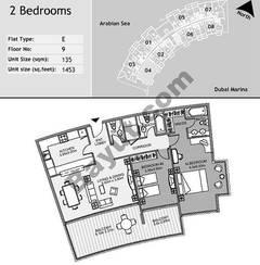 9th Floor 2 Bedroom Type E4