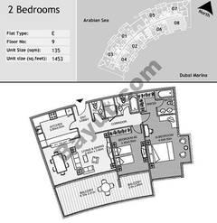 9th Floor 2 Bedroom Type E8