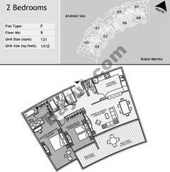 9th Floor 2 Bedroom Type F6