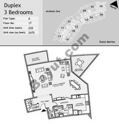 17th Floor 3 Bedroom Type A5