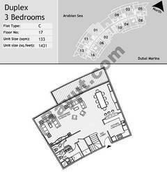17th Floor 3 Bedroom Type C1