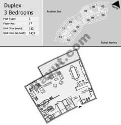 17th Floor 3 Bedroom Type C9