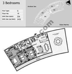 19th Floor 3 Bedroom Type G4