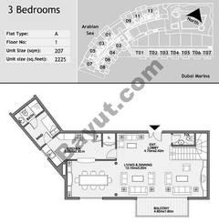1st Floor 3 Bedroom Type A1