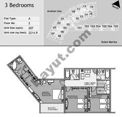 2nd Floor 3 Bedroom Type A1