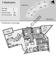 7th Floor 3 Bedroom Type A3