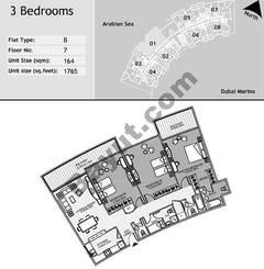 7th Floor 3 Bedroom Type B1
