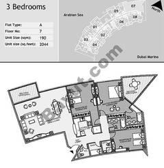 8th Floor 3 Bedroom Type A7