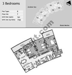 8th Floor 3 Bedroom Type B5