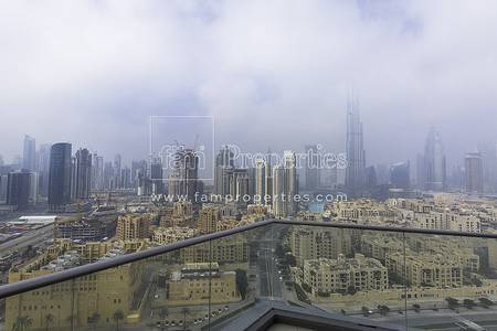 2 Bedroom Apartment for Rent in Downtown Dubai, Dubai - Fully Upgraded 2BR| Full Burj View| 4Chq