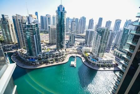 2 Bedroom Flat for Rent in Dubai Marina, Dubai - Marina Sea View| Unfurnished | High floor