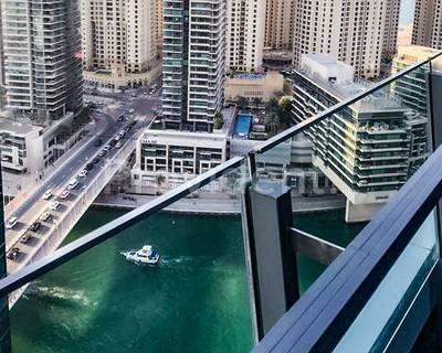 Studio for Rent in Dubai Marina, Dubai - Breathtaking marina view|Cozy studio|Silverene B