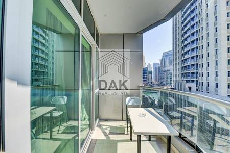 1 Bedroom Flat for Rent in Dubai Marina, Dubai - Fully Furnished with Partial Marina View