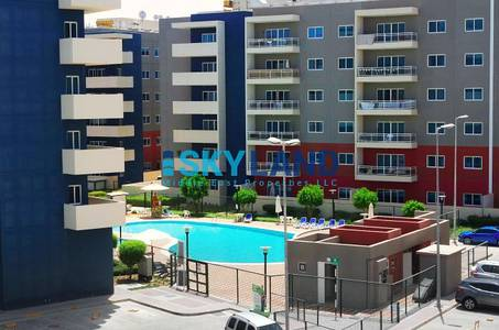 1 Bedroom Apartment for Rent in Al Reef, Abu Dhabi - 1bed apt with gym in same bldg pool view