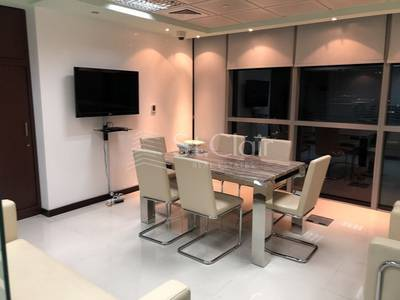 Office for Sale in Jumeirah Lake Towers (JLT), Dubai - Fully Furnished Office Mid Floor Lake View